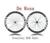 bicycle wheelset brands - Full Carbon Road Bike Wheels De rose Brand C mm Rim Racing Wheels K Weave Bicycle Wheelset Powerway R36 Hubs Holes