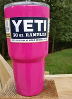 Wholesale Pink YETI Cup oz oz YETI Cooler Rambler Tumbler Cup Car Beer Mug Large Capacity Stainless Steel Cups Travel Mugs Keeps Cold or Hot