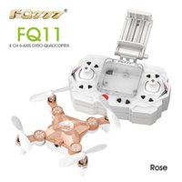 armed helicopter - Newest FQ777 FQ11 With Foldable Arm D Mini G CH Axis Headless Mode Portable RC Quadcopter Helicopter One Key Return RTF