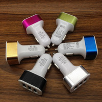best car battery brand - 4 A Car Charger port USB Car battery Chargers Cigarette Charger Adapter for Apple Iphone s plug ipad samsung s7 huawei best quality