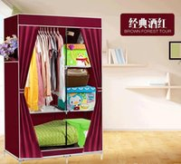 Wholesale Large capacity Wardrobe portfolio Reinforce folded cloth wardrobe Improvised chest Oxford cloth single wardrobe