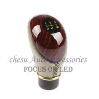 Wholesale 2015 car styling Parking Peach Wood amp PU Leather Car Manual Speed Motor Gear Shift Lever Gear Knob