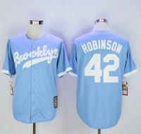 Cheap Baseball Brooklyn Dodgers Cooperstown Throwback J Best Men Short Los Angeles 42 Jackie Robinson Embroider