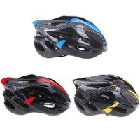 al por mayor adulto bici-2014 Super Light Deportes bici del camino del casco de la bicicleta de seguridad de ciclo con el visera de fibra de carbono H10177 adulto