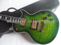 Wholesale Electric guitar new gib lp custom green burst color electric guitar maple flame top guitarra ebony oem brand