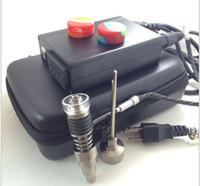 Ongles en verre dabs Prix-Free DHL Boîte de contrôle électrique la plus économique de clou de clou pour le clou d'ongle elecronic de fumeur de DIY Nouveau clou Titanium ajustement dans le bong en verre de 10/14 / 18mm