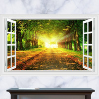 beautiful twilight - 3D Generic Windows Shade Trail Twilight Tree Beautiful Wall Decal Decor Sticker kindergarten living room vinyl Inspiration art