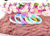 Wholesale Glow bracelet Popular BEST FRIENDS letter fluorescent color luminous hand ring of soft rubber hand ring Jelly Glow bracelet