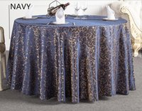 Wholesale Hot Tablecloth With Wash Gold Restaurant Meeting Sarong Round Table Cloth cm More color White Hot Selling