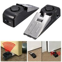 Wholesale 120dB Security Door Stop Alarm System Home Office Traveling Safety Wedge Block Wireless Security Alarm Systems