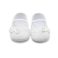 arrival knotted - Fashion Baby Girl Shoes Butterfly knot Spring Soft Sole Girl Baby Shoes Cotton First Walkers New Arrival Christening Shoes