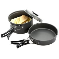 Wholesale Outdoor Camping Cookware Hiking Fishing Cooking Picnic Bowl Pot Pan Set