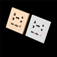 Wholesale 1pc Dual USB Electric Wall Charger Station Socket Adapter Power Outlet Switch Panel Newest New Arrival