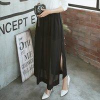 Wholesale 2016 Hot Summer Fashion Skirts Women Casual Sexy Skirt Fishtail Long Skirt Chiffon All Match Cheap