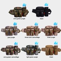 Wholesale Outdoor Camouflage Men Tactical Military Travel Hiking Waist Pack Bottle Holder
