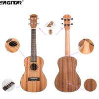 Wholesale High quality Inch Frets Ukulele Uke Acoustic Hawaiian Guitar Sapele Spruce Rosewood Fingerboard Strings for beginners