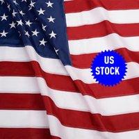 american flag embroidered stars - USA US U S American Embroidered Flag x5 FT Sewn Stripes Stars Grommets ST31406