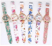 battery nurse - New Geneva Silicone Wristwatch Medical Nurse Watch Fob Quartz Watch Doctor Watch Wristwatches New Floral Prints Nurse Watch M28