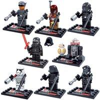 Wholesale 8pcs set Star Wars Yoda Darth Vade kylo ren BB8 The Force Awakens Figures Buliding Blocks sets Minifigures Bricks Toys Compatible