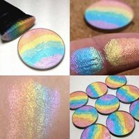Wholesale Hot Prism Rainbow Highlighter Shimmer Eyeshadow Face Bitter Lace Beauty Blush Makeup Bronzer In Retail Box not easy to be broken