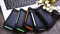 battery emergency power - Powerbank mAh Waterproof F5 Solar Power Bank Dual USB Ports With LED light Emergency Portable Charger External Backup Battery