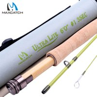 Wholesale Maxcatch WT Fly Rod FT Medium Fast Fly Fishing Rod Graphite IM10 Cordura Rod Tube