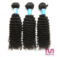 100% brésilien vierge Cheveux humains 3bundles cheveux bouclés humains tissent des extensions de cheveux humains malais de la Chine indienne