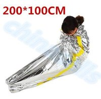 backpacking deals - new first aid Outdoor life saving deal Portable Waterproof Reusable Emergency Rescue Foil Camping Survival Sleeping Bag CM