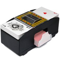 automatic deck shuffler - Updated Automatic Poker Card Shuffler Robot Decks Player Card Shuffler Quick Prop wash Poker Shuffling Automatic Machine Toy