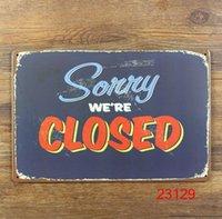 Wholesale Sorry we re closed Tin Sign Bar pub home Wall Decor Retro Metal Art Poster