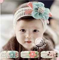 Girl big pretty flowers - Pretty baby Hair Accessories For Infant Baby Lace Big Flower Bow Princess Babies Girl Hair Band Headband Baby s Head Band Kids