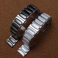 Femmes montres intelligentes France-Nouveau style de mode en métal avec Bracelet en céramique Bracelet bande femmes hommes Regarder les accessoires 20mm 22mm pour le diamant ou smart-watch Fashion Hot
