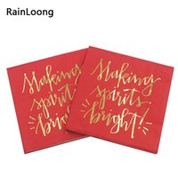 beverage papers - RainLoong Plys Beverage Gold Foil Paper Napkin Making Spirits Bright Tissue Serviettes DecoupTissue Napkin Serviettes Decoupage cm cm