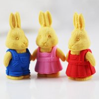 Wholesale kawaii eraser d papelaria criativa school supplies borrachas rabbit erasers material escolar infantil borradores de goma kids