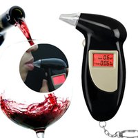 Wholesale Key Chain Breath Alcohol Tester Traffic safety mouthpiece Alcohol Digital Breath Alyzer with BAC g l Accuracy