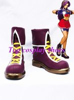 athena shoes - Freeshipping Game The King of Fighters Athena Asamiya Cosplay Boots shoes Custom made for Halloween Christmas