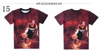 ai shirt - 2016 fashion men women s D tee shirt Harajuku graphic print Basketball star AI LeBron KOBE funny t shirt tops