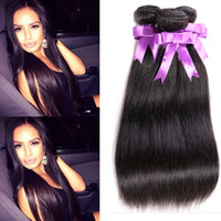 american hair products - African American Human Hair Ali Queen Hair Products A Brazilian Virgin Hair Straight Bundles Real Virgin Brazilian Human Hair Extension