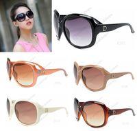 al por mayor las gafas de sol de gran tamaño-Alta calidad El diseñador de lujo de la vendimia D diseña las gafas de sol de gran tamaño de la manera para los vidrios de las señoras de las mujeres con las cajas originales