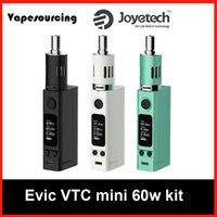 Precio de Evic joytech-Original <b>Joytech EVIC</b> VTC Kit Mini 60W TC Caja de Control de Temperatura Mod Versión de actualización de EVIC VT 60W Box Mods Kits