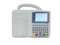 Wholesale Portable Lead Digital ECG EKG Machine With Three Channels Eectrocardiograph LCD Screen
