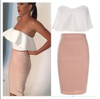 asia bag - 2016 new fashion women s sexy tight dress Lotus leaf bag hip skirt bra piece European summer sleeveless dress asia size S XL