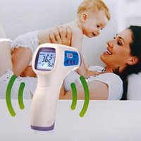 Wholesale 1PCE Muti fuction Baby Adult Digital Termomete Infrared Forehead Body Thermometer Gun Non contact Temperature Measurement Free shippin