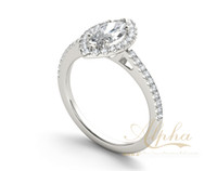 antique marquise jewelry - ex factory price marquise shape diamond bridal set ring marquise shape jewelry antique design engagement silver ring BER0321