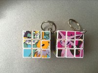 accessories wood finishing - 3 cm Mini Poke Pikachu Magic Cube Puzzle Keychain Magic Game magic Square key ring learning education good Gift toys E1564
