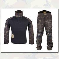Wholesale Gen2 Combat Uniform BDU Shirt Pants Tactical Camo Military Ddress Uniform With Elbow Knee Pads Durable Material EM6971 MCBK