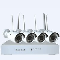 Wholesale 4ch MP WiFi NVR P2P cloud Free DDNS WiFi MP H Wireless IPCamera quot Sensor IR LEDs M