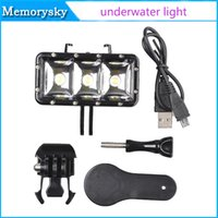 Wholesale New Go Pro HERO Waterproof LED flash video light Underwater Diving Light High Power Dimmable LED Video