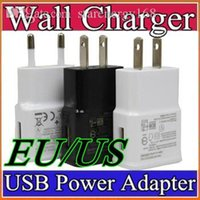 Wholesale EU US plug USB Wall Charger V A Travel AC Wall Charger Adapter for Samsung galaxy note N7000 I9220 N7100 S5 S4 I9600 E SC