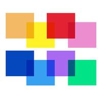 Wholesale 8PCS quot X quot Color Correction Gels Set Gel Filter Film Gel Sheet mm for Video Light Studio Flash Strobe High Quality Flash Light Kit